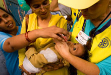 Rotary member providing health services in India