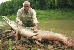 Alan Blavins with Gar fish